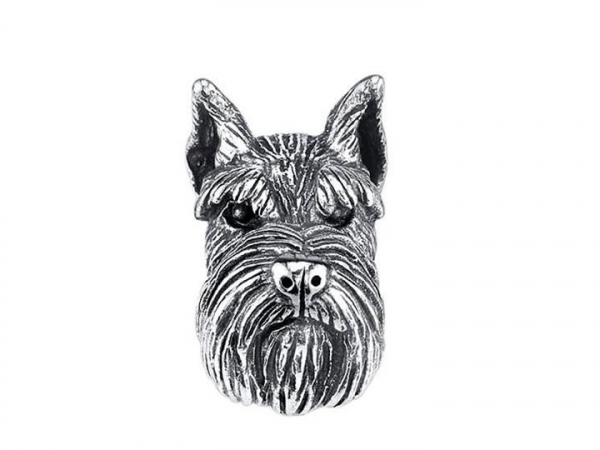Sterling Silver Schnauzer Bark Bead by Bark Beads