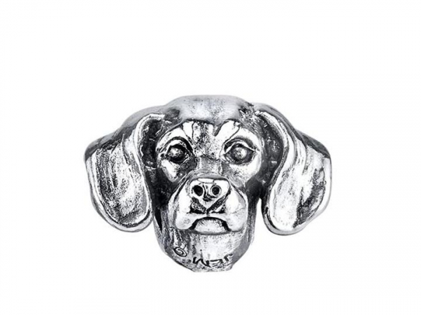 Sterling Silver Smoothed Haired Dachshund Bark Bead by Bark Beads