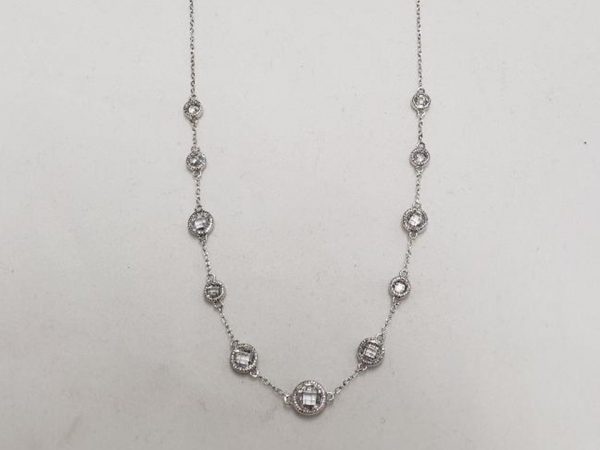Ladies Silver & CZ Necklace by Elle Jewelry